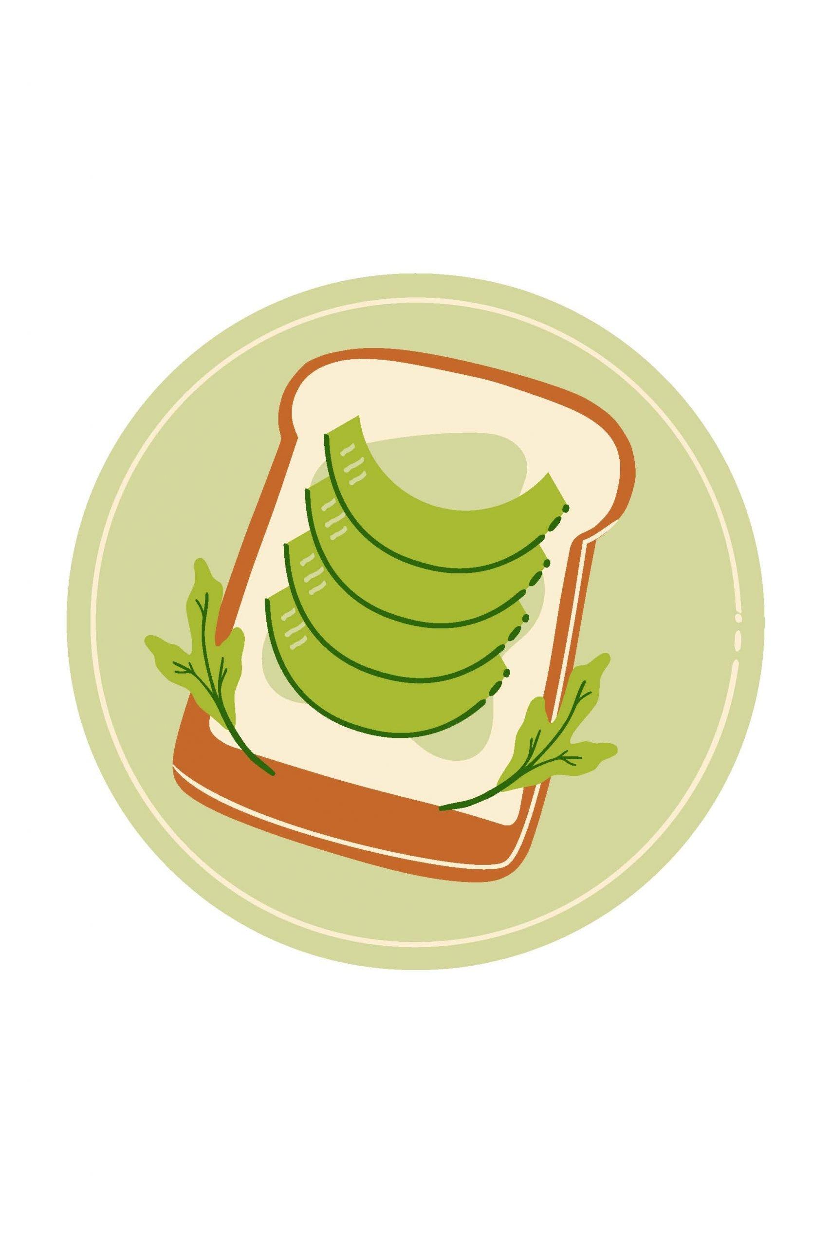 avocado toast lunch